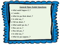 open-ended questions during center time | Learning and Teaching With Preschoolers: Open Ended Questions