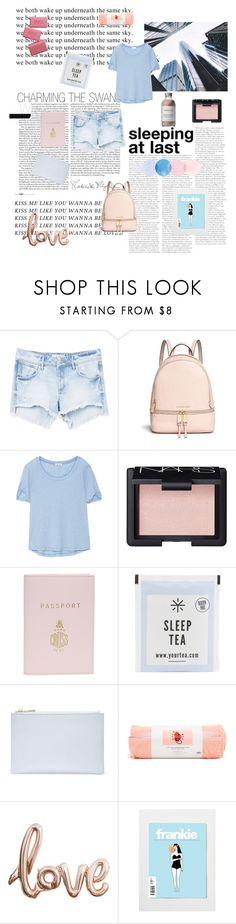 """""""underneath the same sky"""" by thunderingwaves ❤ liked on Polyvore featuring GET LOST, MANGO, Michael Kors, Splendid, NARS Cosmetics, Mark Cross, Whistles, ban.do and French Girl"""