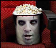 Zombie Head Popcorn Buckets