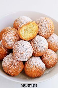 posmakujto! | Mini pączki serowe Mini Foods, Cookie Desserts, Cake Cookies, Appetizer Recipes, Cake Recipes, Sweet Tooth, Sweet Treats, Deserts, Food And Drink