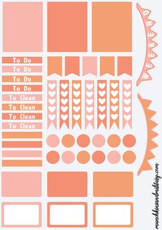 FREE printable template to create your own DIY Erin Condren Life Planner Stickers