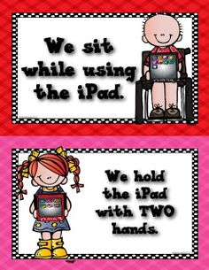 Freebie*Do you use iPad for your literacy centers? Here are a few rules to help prolong the life of your iPads.