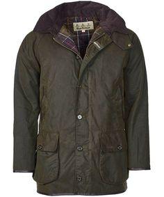 Men's Barbour Longhurst Waxed Jacket - Olive