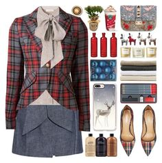 """""""Christmas"""" by barbarela11 ❤ liked on Polyvore featuring MSGM, Tory Burch, Smythe, Valentino, Abyss & Habidecor, Dsquared2, Casetify, Cultural Intrigue and NEOM Organics"""