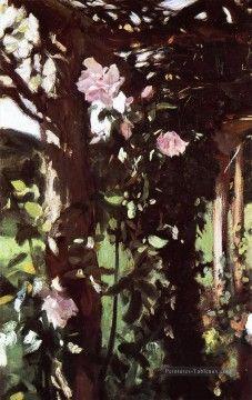 John Singer Sargent Peinture - Un Roses Rose Trellis à Oxfordshire John Singer Sargent