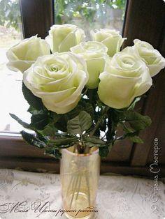 Розы из холодного фарфора, мастер класс