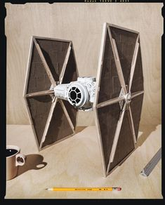 How to Make a Star Wars TIE Fighter Using Starbucks Cups - But does this come in venti? The post How to Make a Star Wars TIE Fighter Using Starbucks Cups appeared first on WIRED. Star Wars Birthday, Star Wars Party, Birthday Fun, Starwars, Disney Starbucks, Starbucks Coffee, Make A Tie, Star Wars Room, Personalized Starbucks Cup