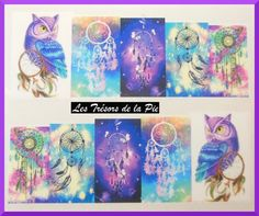 STICKERS ONGLES WATER DECAL (x24) - Nail art - Dreamcatchers - Multicolore