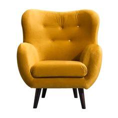 Fauteuil Viborg - stof - geel Fantasy House, Roomspiration, Color Splash, Armchair, Interior, Inspiration, Furniture, Home Decor, Colour
