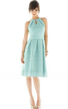 Jewel Sleeveless Zipper A-line Natural Bridesmaid Dresses_2