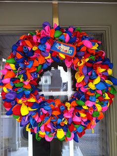 While searching through my new favourite site Pinterest , I came across the neatest birthday wreath.  It sounded really simple and I really ...