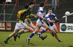Action during The Allianz GAA National Football League match between Laois (blue) and Meath (green/yellow) at O'Moore Park on February 2011 in Portlaoise, Ireland - 7 of 24 Moore Park, National Football League, Yellow, Blue, Ireland, February, Action, Running, Green