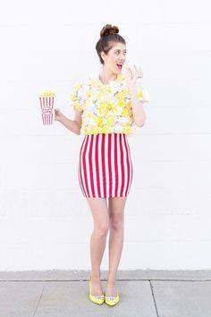 Karnevalskostüme selber machen: Popcorn