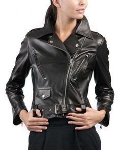 Cuir Gilet veste en cuir lisse cuir noir blouson biker cowboy western