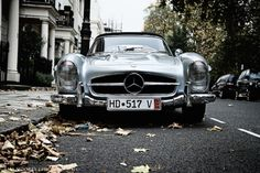 Mercedes-Benz 300SL Roadster... shiver... i mean, silver.