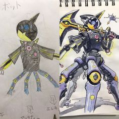 Artist Dad Adapts Sons' Drawings Into Anime Style Images) - The internet has generated a huge amount of laughs from cats and FAILS. And we all out of cats. Drawing For Kids, Art For Kids, Anime Dad, Beautiful Drawings, Awesome Anime, French Artists, Father And Son, Anime Style, Character Art