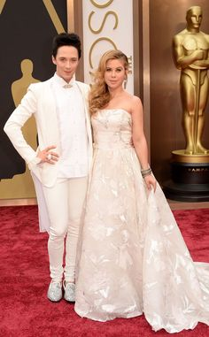 Good job, NBC, thinking out of the box. The FAB Johnny Weir & Tara Lipinski from 2014 Oscars Red Carpet Arrivals | E! Online