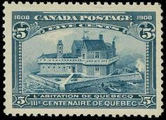 Canada, Scott 99, 1908 5c Champlain's Home, well centered with fresh color, NH, Very Fine (Scott $190; Unitrade C$450)