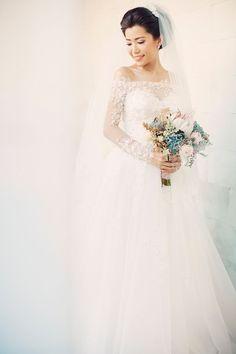 Beautiful long sleeve wedding dress