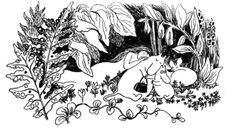 first moomins, see how small noses they have!