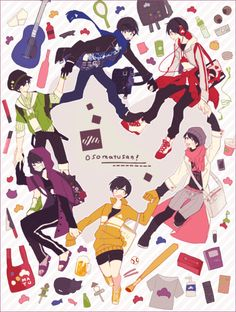 Image shared by Ako Tachibana. Find images and videos about osomatsu-san, ichimatsu and karamatsu on We Heart It - the app to get lost in what you love. Kawaii Anime, Manga Anime, Anime Art, Osomatsu San Doujinshi, Otaku, Dark Anime Guys, Old Shows, Ichimatsu, Anime Style