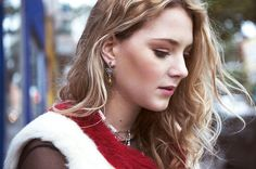 Short boho chic silver and gold earrings 24K gold plated