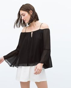 OFF - SHOULDER BLOUSE - Woman - NEW THIS WEEK | ZARA United States