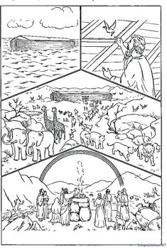 Bible Crafts For Kids, Preschool Bible, Bible Lessons For Kids, Bible Activities, Sunday School Activities, Sunday School Crafts, Noahs Ark Craft, Sunday School Coloring Pages, Teaching Religion