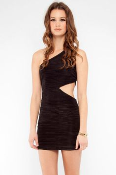 Pleated Bodycon Dress in Black $25 at www.tobi.com