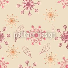 Dancing Flakes Apricot by Thomas Hartwig Laschon available for download as a vector file on patterndesigns.com