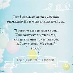 Lord Jesus to St Faustina