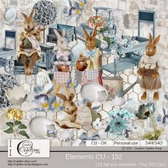CAJOLINE-SCRAP: Elements CU - 152