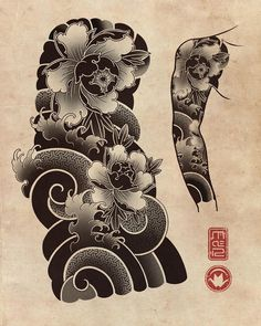 Japan Travel April - - I Love Japan Wallpaper - Japanese Flower Tattoo, Japanese Dragon Tattoos, Japanese Tattoo Designs, Japanese Sleeve Tattoos, Japanese Flowers, Japanese Art, Japan Tattoo Design, Leg Sleeve Tattoo, Traditional Japanese Tattoos