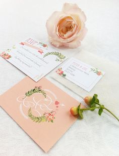 'Midsummer Dream' wedding stationery RSVP by Paperknots | Hannah McClune Photography