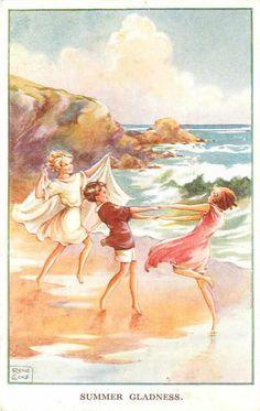 Rene Cloke - English -(1905-1995) - Summer gladness - vintage postcard