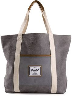 $200, Grey Suede Tote Bag: Supply Co Alexander Tote by Herschel. Sold by farfetch.com. Click for more info: http://lookastic.com/women/shop_items/130662/redirect