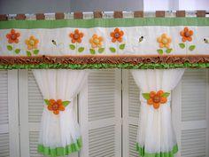 Cenefa flores naranjas.