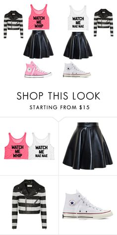 """BFF OUTFIT"" by swagified ❤ liked on Polyvore featuring MSGM, Yves Saint Laurent and Converse"