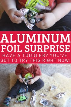 Aluminum Foil Surprise: A fun toddler activity! - Happily Ever Mom Young Toddler Activities, Preschool Learning Activities, Hands On Activities, Fun Learning, Holiday Activities, Writing Prompts For Kids, Kids Writing, Social Emotional Development, Creative Thinking