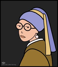"""Daria as the """"Girl with a Pearl Earring,"""" painted by Vermeer in the 1660s."""
