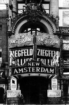 Ziegfeld Follies, held at the New Amsterdam Theatre in New York, NY New Amsterdam, Photography New York, White Photography, Street Photography, Travel Photography, Folies Bergeres, Ziegfeld Follies, Ziegfeld Girls, 42nd Street