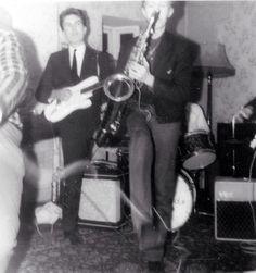 David Bowie playing sax