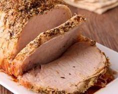 Rôti de porc à la moutard et à la bière (rapide et facile) Roast pork with mustard and beer (quick and easy)