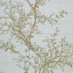 Phoenix Light Green Tree Of Life | Wallpaper Warehouse