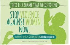 """(7 of 7)  """"The Endless Shame of Violence Against Women""""  """"This is a shame that needs to end. Stop violence against women now.""""  Concept, Design, & Copyright by Antonio Di Vico Source: http://endviolence.un.org/situation.shtml"""