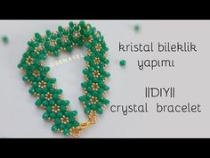 Stylish Crystal Bracelet Making Seed Bead Tutorials, Beading Tutorials, Beading Patterns, Swarovski Bracelet, Crystal Bracelets, Simple Bracelets, Handmade Bracelets, Jewelry Tags, Diy Jewelry