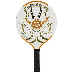 Viking Re-Ignite Lite 2 Racquet (4 1/4-Inch) by Viking. Save 22 Off!. $124.90. Designed with the same over-sized hitting surface and low density core, players are going to love this new lighter weight version of the Re-Ignite. Now players can experiance an oversized sweetspot it the soft feel in an ultra-light paddle!  Weight: 12.9oz, 370grams. Power Rating: 5. Core Density: Low. Surface Feature: SpinTex. Surface Area: 47. 6sq in. Beam: 19mm. Overall Length: 18 in. Handle Length: Standar...