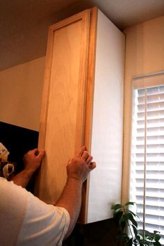 DIY how-to-make-kitchen-cabinet-doors http://thehappyhousewife.com/home-management/how-to-make-kitchen-cabinet-doors/