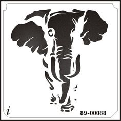 89-00088 Elephant Safari Animal Stencil, Safari Animals, 89-00088 - iStencils.com