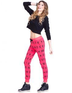 Raspberry Font Pants  HEROESQUE BRAND  #heroesque #font #pants #sweatpants #activewear #vegan #red #raspberry #spring #summer